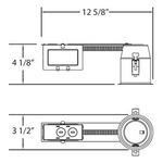 GU3-00 3IN MR16 GU10 120V Retrofit Remodel Housing -  /