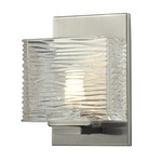 Jaol Wall Light - Brushed Nickel / Clear