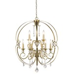 Ella Chandelier - White Gold