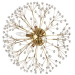 Dunkirk Wall Sconce / Ceiling Flush Light - Aged Brass / Crystal