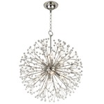 Dunkirk Chandelier - Polished Nickel / Crystal