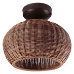 Garota Outdoor Ceiling Light - Brown Graphite / Brown Fiber