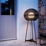 Garota Tall Outdoor Floor Lamp - Brown Graphite / Brown Fiber
