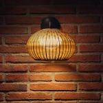 Garota Outdoor Wall Light - Brown Graphite / Brown Fiber