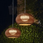 Garota Outdoor Plug In Pendant - Brown Graphite / Brown Fiber