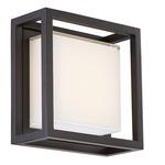 Framed Outdoor Wall Light - Bronze / White