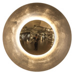 Blaze Wall/Ceiling Light - Gold Leaf / White Glass