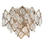 Tiara Semi Flush Ceiling Light - Vienna Bronze / Crystal