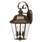 Clifton Park 3 Light Outdoor Wall Light - Copper Bronze / Clear Beveled
