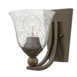 Bolla 4650 Wall Light - Olde Bronze / Clear Seedy /