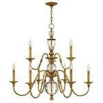 Eleanor Chandelier - Heritage Brass /