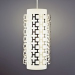Parker Pendant - Polished Nickel / Frosted White