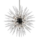 Sparta Chandelier - Polished Nickel / Clear