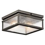 Manningham Outdoor Ceiling Light Fixture - Olde Bronze / Clear Seeded