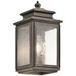 Wiscombe Park 1 Light Outdoor Wall Light - Olde Bronze / Clear Seeded