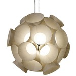 Dandelion Pendant - White / Ivory White Wood