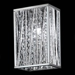 Terra Bathroom Vanity Light - Chrome / Crystal