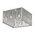 Terra Ceiling Flush Light - Chrome / Crystal