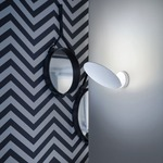 Puzzle Single Round Wall / Ceiling Light - Matte White