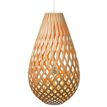 Koura Pendant - Bamboo / Natural / Orange