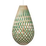 Koura Pendant - Bamboo / Natural / Aqua