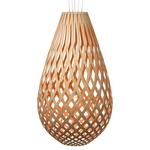Koura Pendant - Bamboo / Natural / Salmon