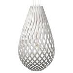 Koura Pendant - Bamboo / White