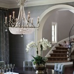 Caspia Candle Chandelier by Fredrick Ramond