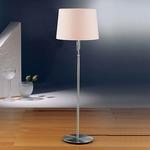 Illuminator 2545 Adjustable Floor Lamp - Satin Nickel / Satin White
