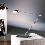 Bernie Adjustable Desk Lamp - Satin Nickel /