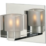 Blocs Bathroom Vanity Light - Polished Chrome / Clear