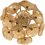 Fiori 3 Light Wall Light -  / Amber Murano