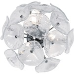 Fiori Wall / Ceiling Light - Clear Murano