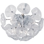 Fiori Ceiling Light Fixture - Bronze / Clear Murano