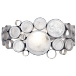 Fascination Bathroom Vanity Light - Metallic Silver /