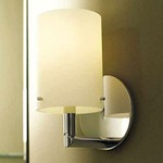 Sine Vanity Wall Sconce - Polished Chrome / Opal
