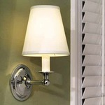 London Terrace Vanity Wall Sconce - Polished Chrome / White