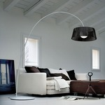 Ribbon Arch Floor Lamp - White / Black