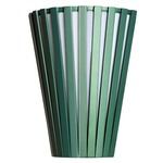 Slatted Tapered Wall Light - Matte Olive Green
