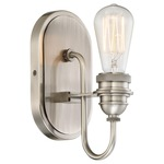 Uptown Edison Wall Light - Pewter