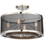 Valcour Ceiling Semi Flush Light - Polished Nickel