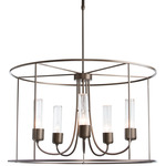 Portico Drum Outdoor Pendant - Coastal Bronze / Seeded Clear