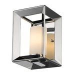 Smyth Wall Light - Chrome / Opal