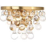 Bling Wall Light - Antique Brass / Crystal