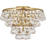 Bling Ceiling Light Fixture - Antique Brass / Crystal