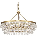 Bling Large Chandelier - Antique Brass / Crystal