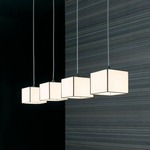 Doscubos 4 Light Suspension - Stainless Steel / White