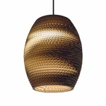 Oliv Scraplight Pendant - Black / Natural