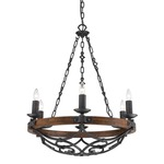 Madera Chandelier - Black Iron