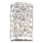 Magique Wall Light - Polished Nickel / Crystal